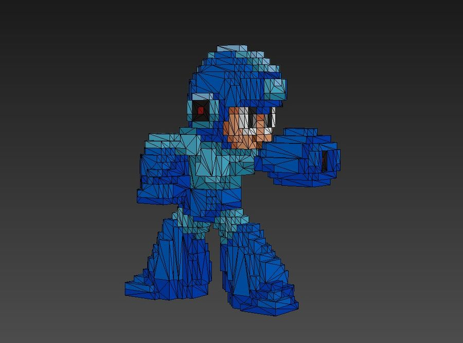 Mega Man 3D royalty-free modelo 3d - Preview no. 6