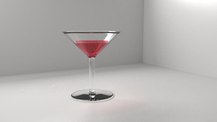 Copa de vino 5 con líquido royalty-free modelo 3d - Preview no. 2