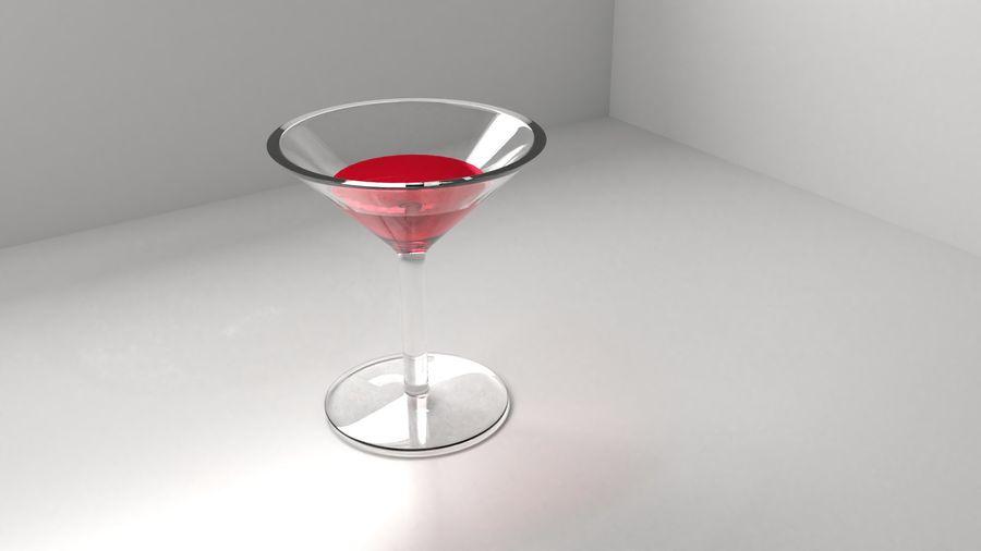 Copa de vino 5 con líquido royalty-free modelo 3d - Preview no. 1