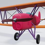 复古飞机 3d model