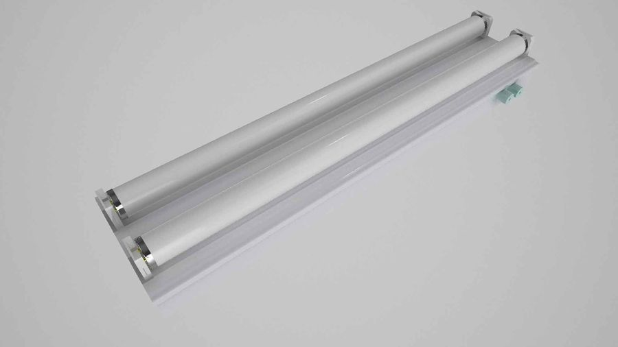 fluoreszierende Lichter royalty-free 3d model - Preview no. 9