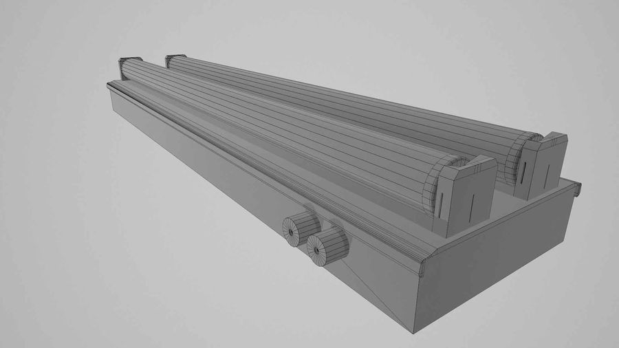 fluoreszierende Lichter royalty-free 3d model - Preview no. 5