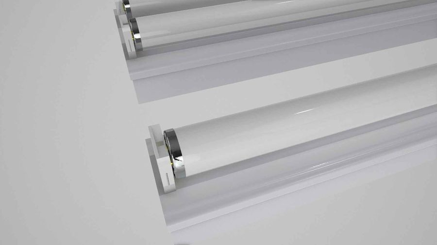 fluoreszierende Lichter royalty-free 3d model - Preview no. 2