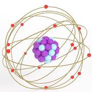 Stylized atom 3d model