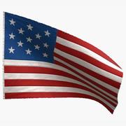 US Flag 13 Stars 1777-1795 3d model
