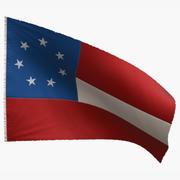 US Flag 1st National Confederate 3d model