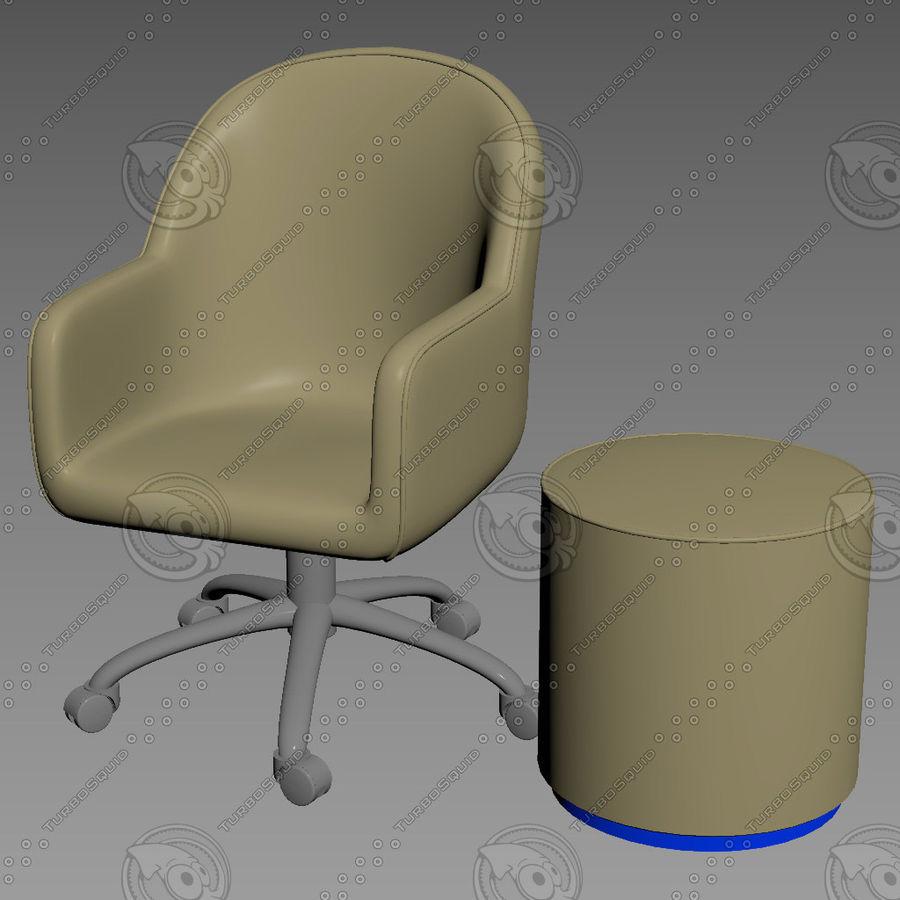Silla de banco royalty-free modelo 3d - Preview no. 1