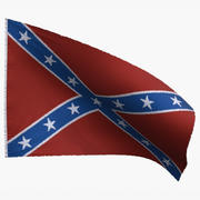 US-Flagge Confederate Navy Jack 3d model