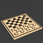 Draughts game board 3d model
