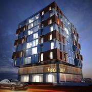 Diseño de edificios Arquitectura exterior modelo 3d