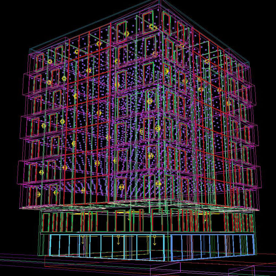 Building Design Exterior Architecture royalty-free 3d model - Preview no. 5