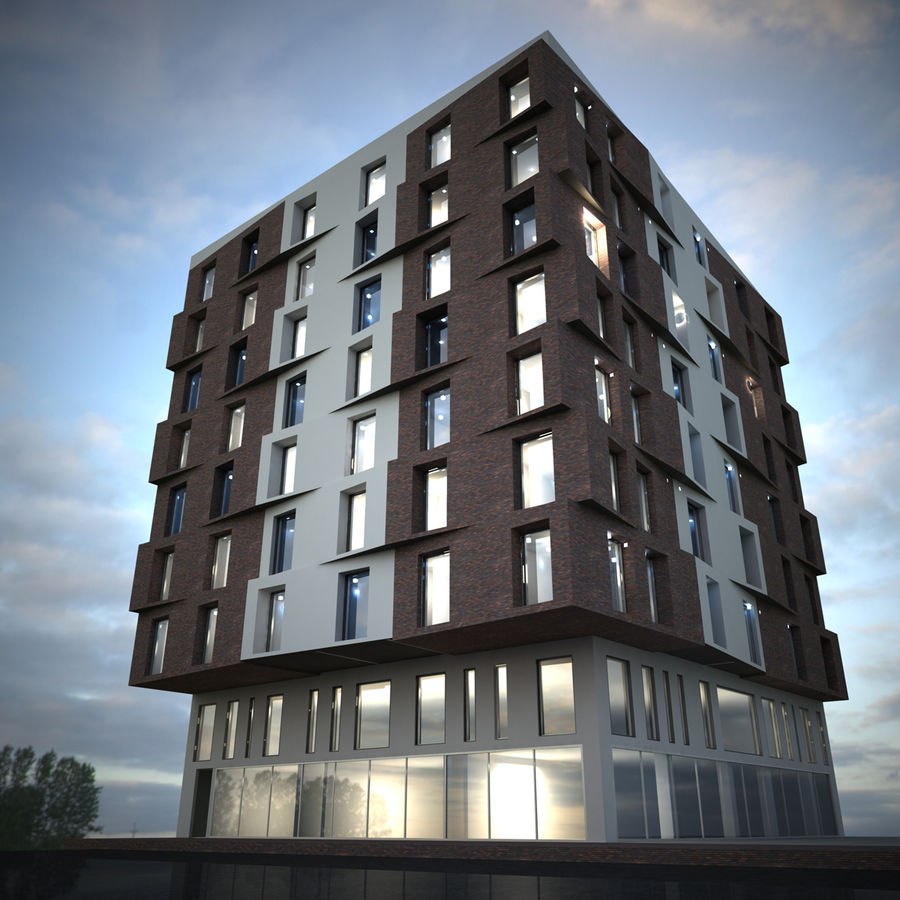 Building Design Exterior Architecture royalty-free 3d model - Preview no. 2