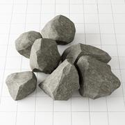 Colección de piedra de roca n3 modelo 3d