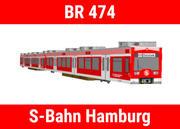 庞巴迪Baureihe 474-S-Bahn汉堡 3d model