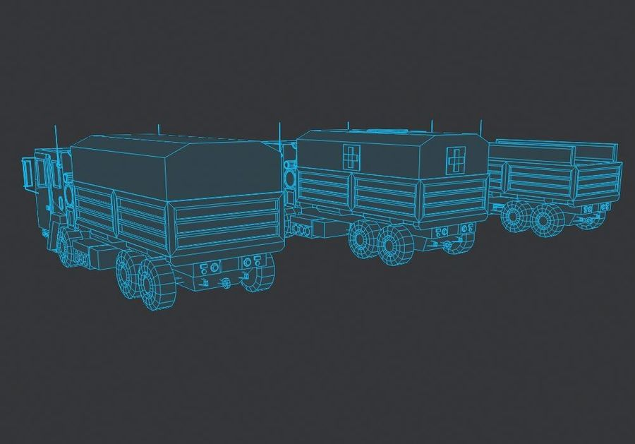 Military FMTV Vehicles royalty-free 3d model - Preview no. 9