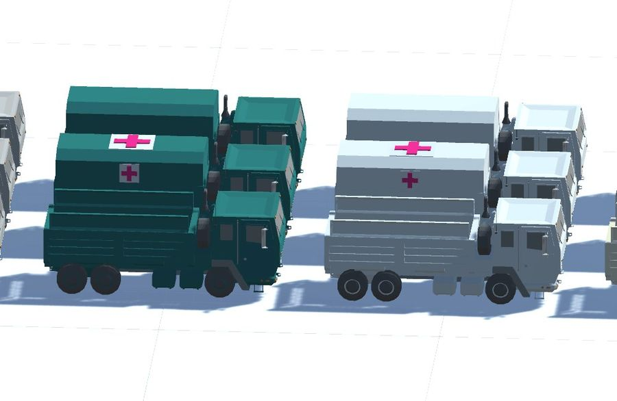 Military FMTV Vehicles royalty-free 3d model - Preview no. 6