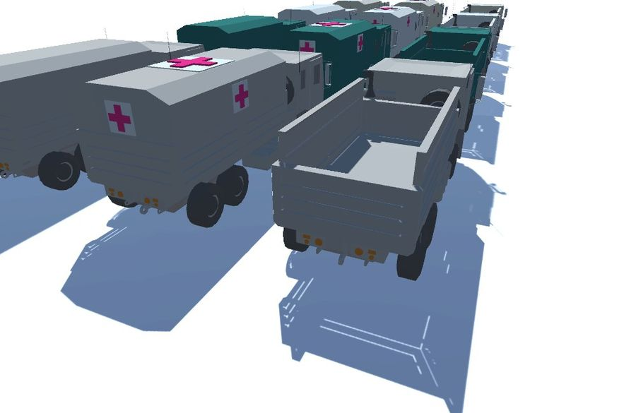 Military FMTV Vehicles royalty-free 3d model - Preview no. 5
