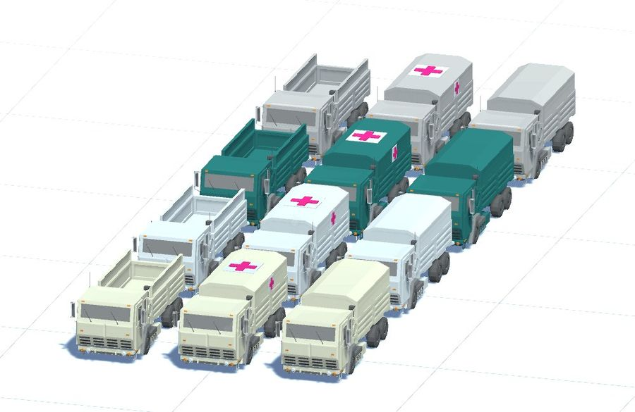 Military FMTV Vehicles royalty-free 3d model - Preview no. 3