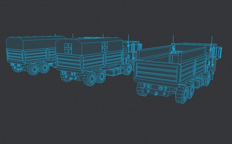 Military FMTV Vehicles royalty-free 3d model - Preview no. 10
