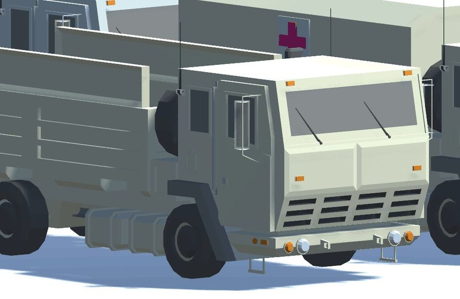 Military FMTV Vehicles royalty-free 3d model - Preview no. 1