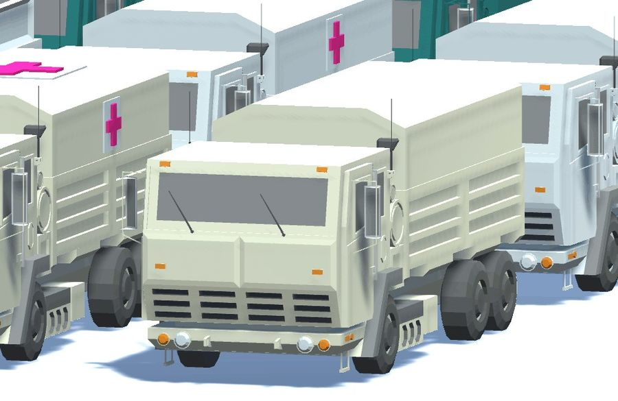 Military FMTV Vehicles royalty-free 3d model - Preview no. 2