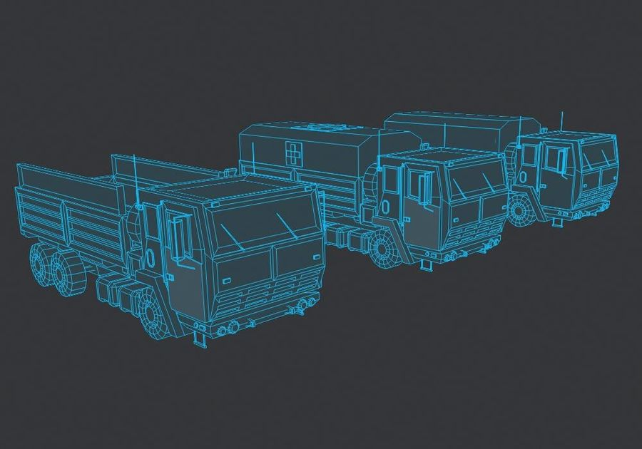 Military FMTV Vehicles royalty-free 3d model - Preview no. 7