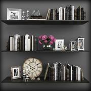 Conjunto de decoración modelo 3d