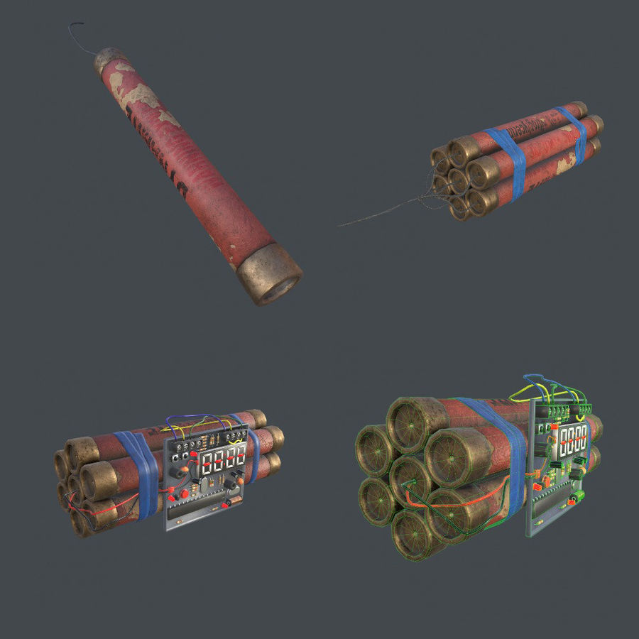 Dynamite Game ready royalty-free 3d model - Preview no. 1