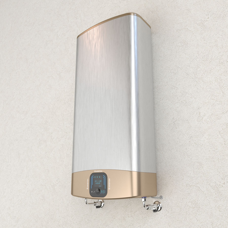 Electric water heater Ariston ABS VELIS EVO QH D royalty-free 3d model - Preview no. 1