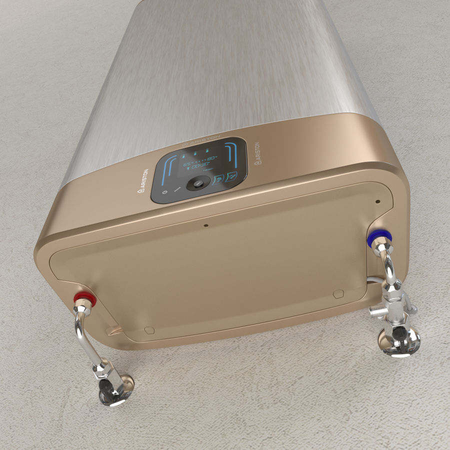 Electric water heater Ariston ABS VELIS EVO QH D royalty-free 3d model - Preview no. 4