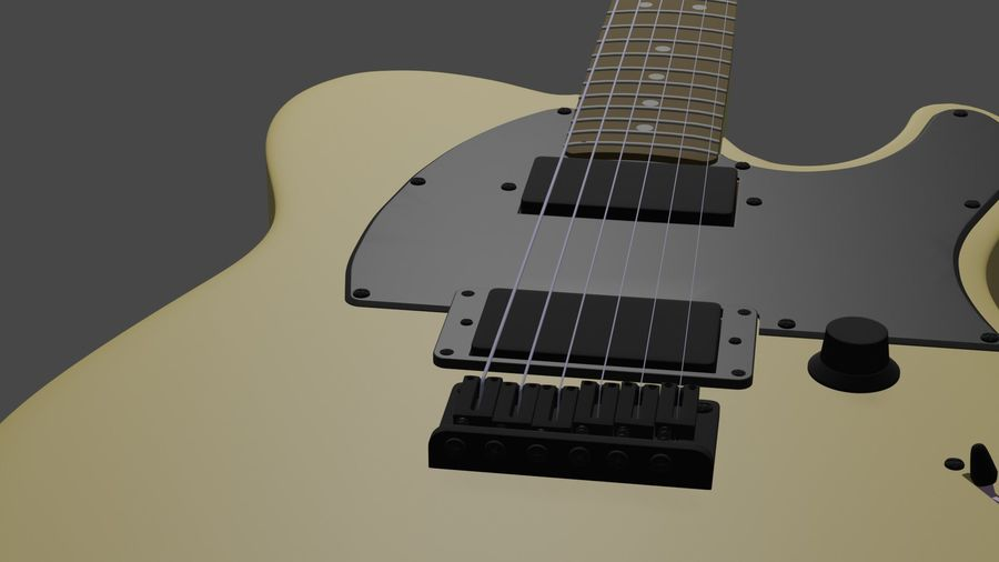 Fender Telecaster royalty-free 3d model - Preview no. 3