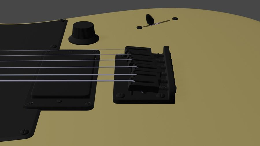 Fender Telecaster royalty-free 3d model - Preview no. 5