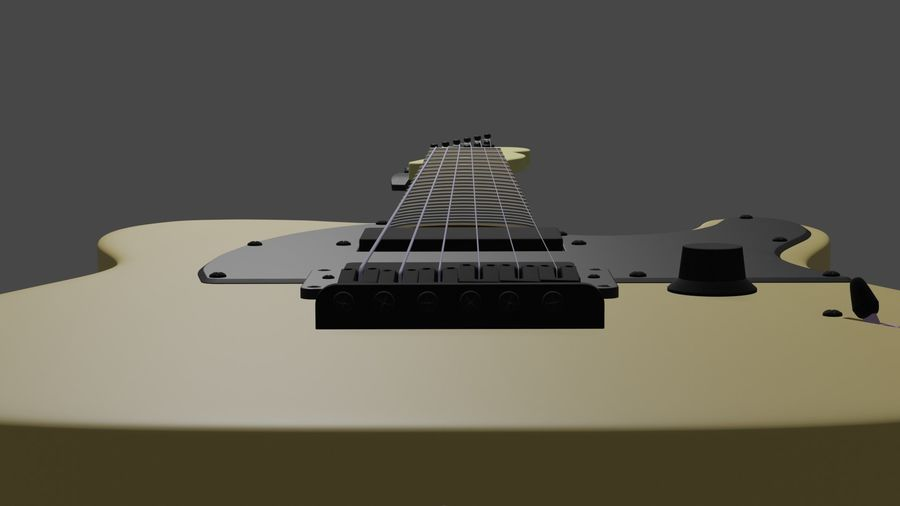 Fender Telecaster royalty-free 3d model - Preview no. 4