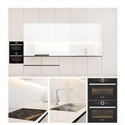 Moderne keuken SCAVOLINI met apparaten BOSCH 3d model