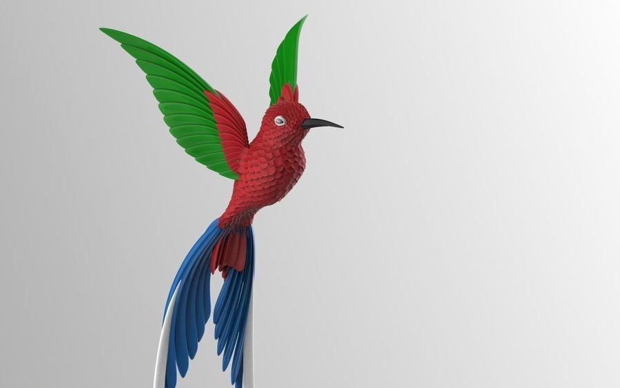 colibri royalty-free 3d model - Preview no. 3