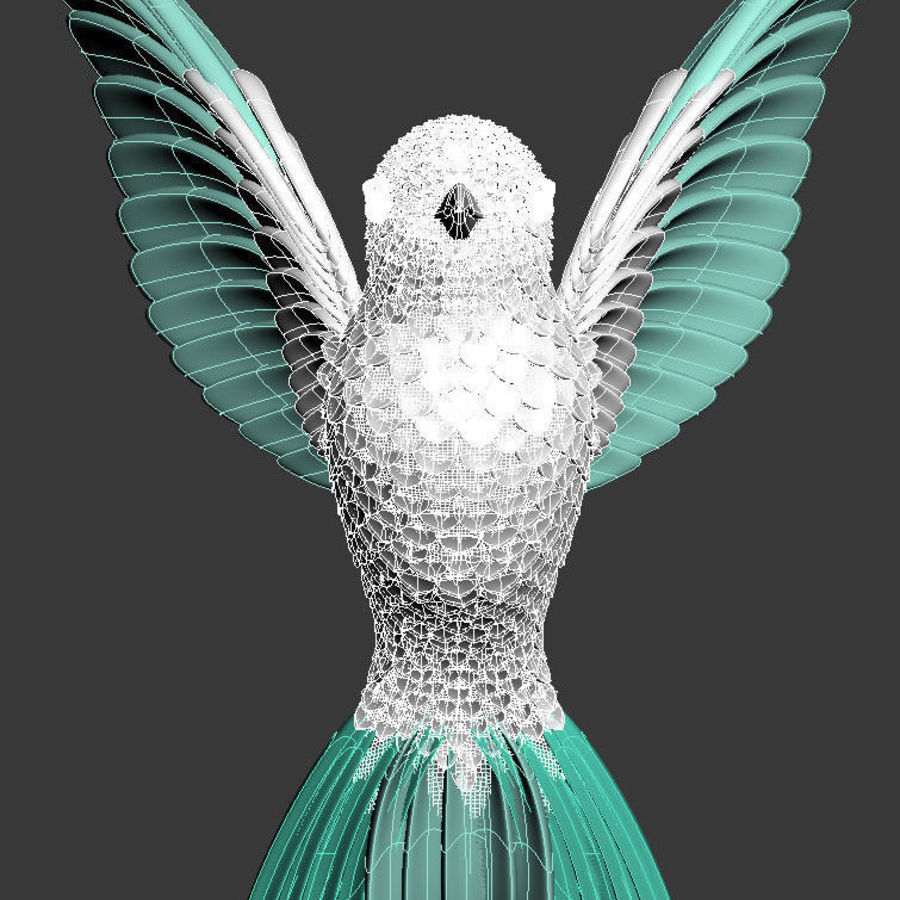 colibri royalty-free 3d model - Preview no. 17