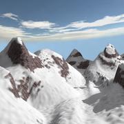 montagne de neige de dessin animé 3d model
