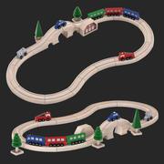 Spielzeugeisenbahn 3d model