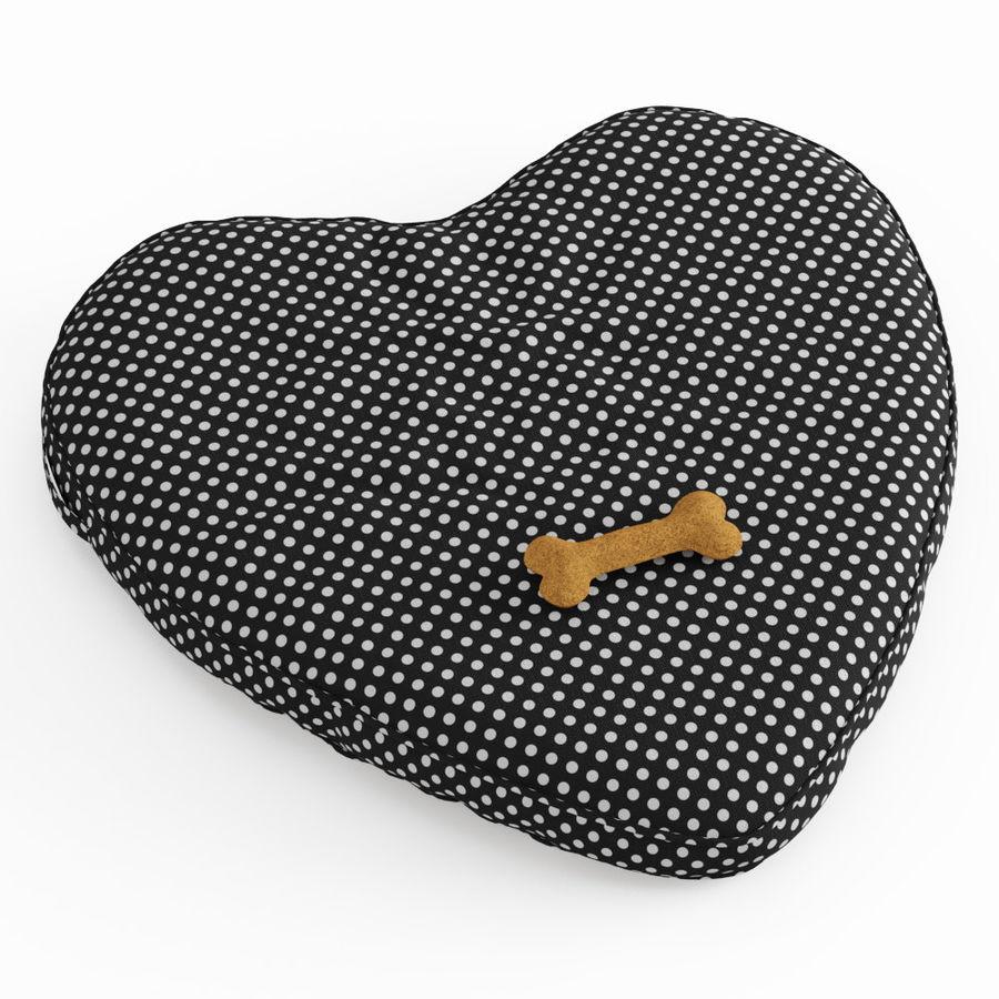 Letto per animali domestici Northfield Heart royalty-free 3d model - Preview no. 2
