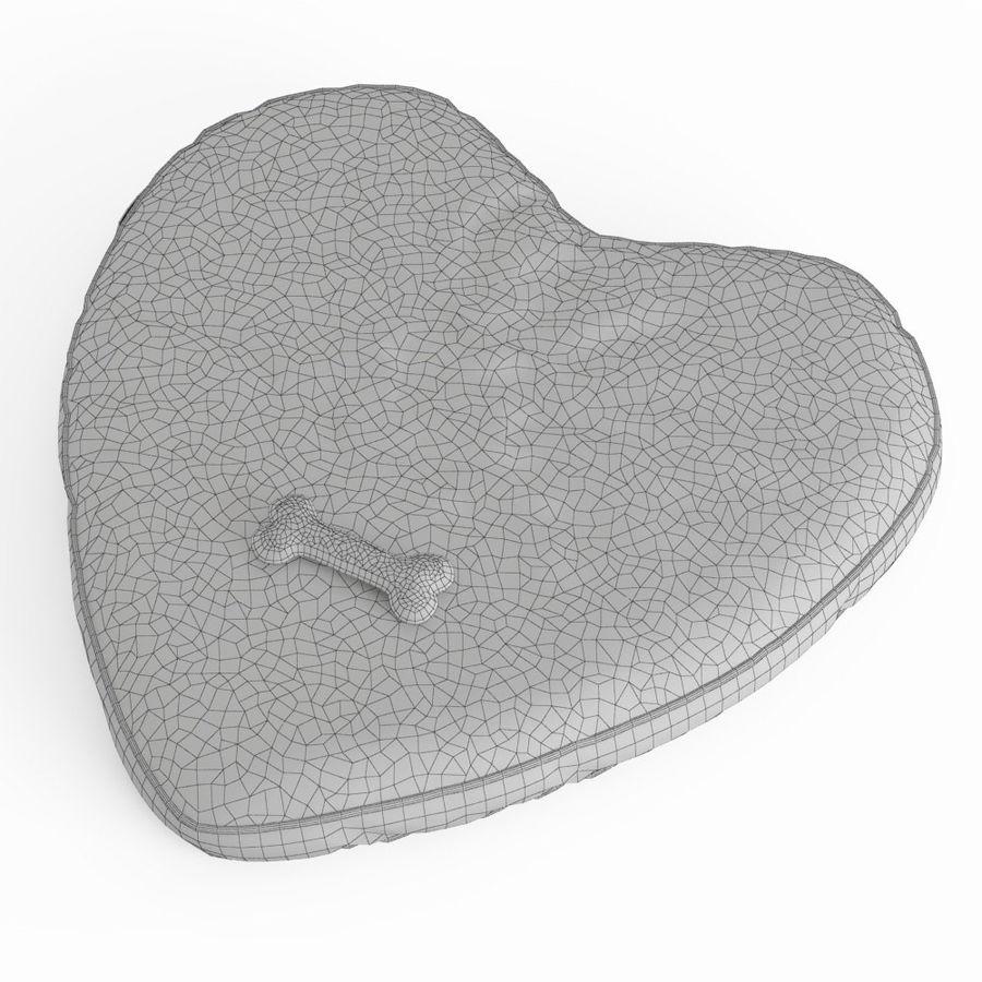 Letto per animali domestici Northfield Heart royalty-free 3d model - Preview no. 5