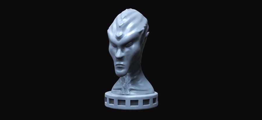 Alien Büste 3d drucken royalty-free 3d model - Preview no. 2