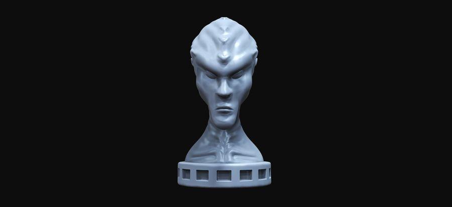 Alien Büste 3d drucken royalty-free 3d model - Preview no. 1