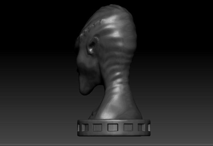 Alien Büste 3d drucken royalty-free 3d model - Preview no. 4
