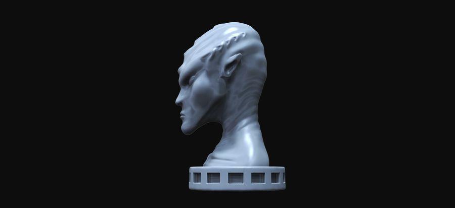 Alien Büste 3d drucken royalty-free 3d model - Preview no. 3
