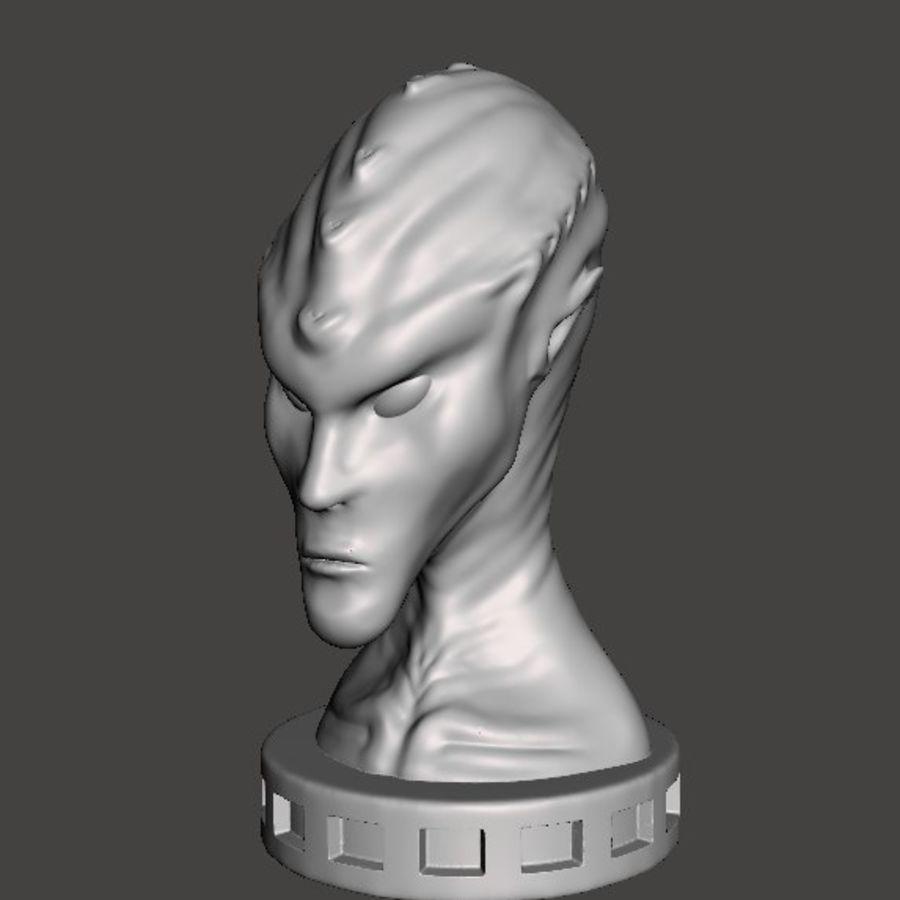 Alien Büste 3d drucken royalty-free 3d model - Preview no. 6