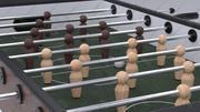 Flipper Fußballspiel 3d model