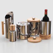 West Elm Nickel + Wood Barware 3d model