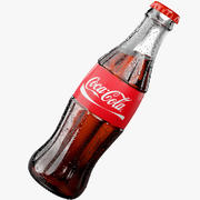 COCA COLA GLASS BOTTLE SODA 3d model