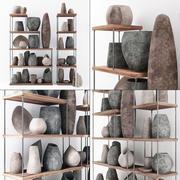 Dishes stone decor 3d model