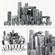 Каменный каменный блок 3d model